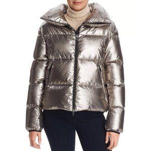 Herno Laminar Cropped Metallic Down Coat N…